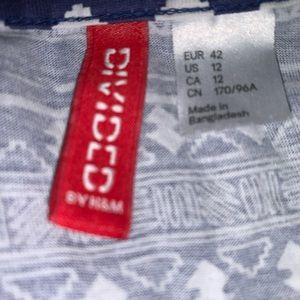 H&M Dresses - H&M Aztec Print Sleeveless Dress Size 12 Blue